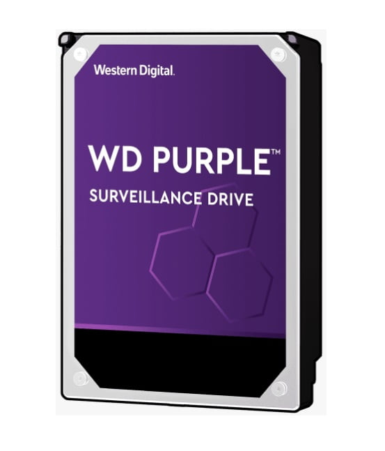 "Western Digital-WD82PURZ-Western Digital WD Purple 8TB 3.5"" Surveillance HDD 7200RPM 256MB SATA3 6Gb/s 245MB/s 360TBW 24x7 64 Cameras AV NVR DVR 1.5mil MTBF 3yrs"