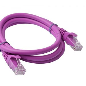 8ware-PL6A-1PUR-8Ware Cat6a UTP Ethernet Cable 1m Snagless Purple