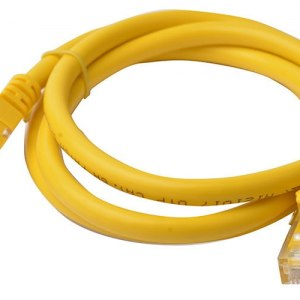 8ware-PL6A-1YEL-8Ware Cat6a UTP Ethernet Cable 1m Snagless Yellow