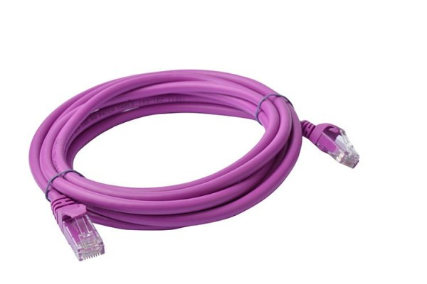 8ware-PL6A-3PUR-8Ware Cat6a UTP Ethernet Cable 3m Snagless Purple